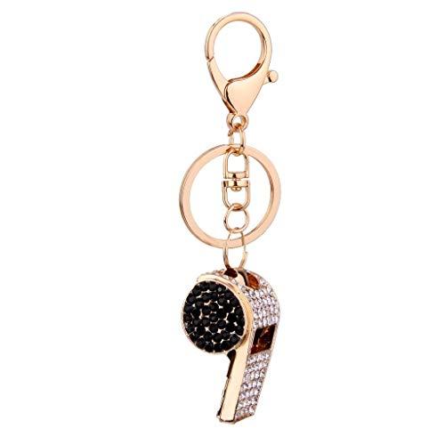 Charm Auto Schlüsselanhänger Kreativer Rhinestone-Pfeifen-Anhänger-Schlüsselring-Charme Keychain Geschenk-Anhänger dekorativ