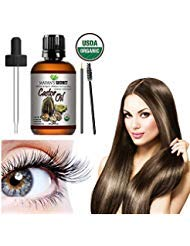 Castor Oil USDA Certified Organic Hexane-Free Castor Oil - Moisturizing & Healing, For Dry Skin, Hair Growth - For Skin, Hair Care, Eyelashes Huge 4oz - Caster Oil By Mayan's Secret