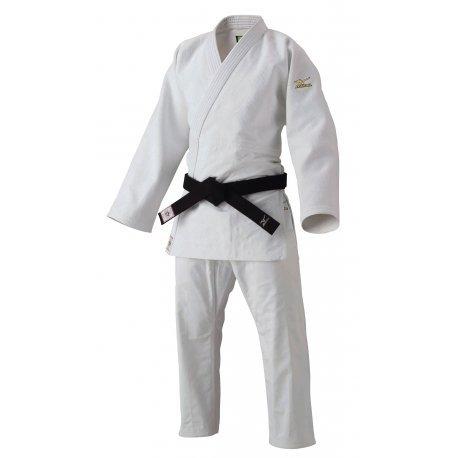 Mizuno-kimono judogi yusho judo5a5101 ijf 2015, bianco