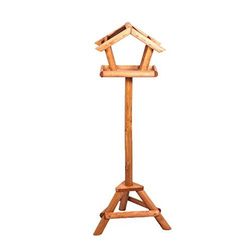 Stabiles Vogelhaus mit Ständer aus wasserabweisendem Bitumen Vogel-Futterhaus inkl. Montagematerial Höhe 110 cm - 3