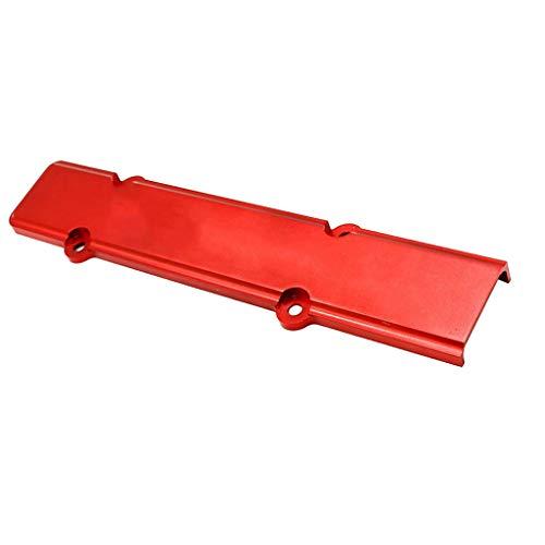 perfk Copertura Candela Motore Alluminio Alta Qualità Universale Auto - Rosso