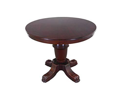 Antike Fundgrube Runder Tisch Esstisch im antiken Stil aus Mahagoni furniert D: 94 cm (9023) -
