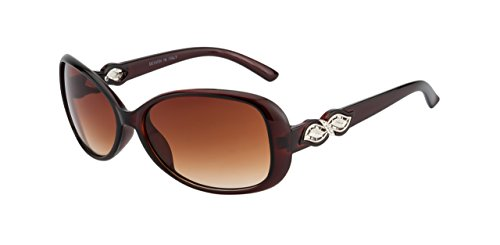 OCHILA Polycarbonate Brown Bug Eye Women's S...