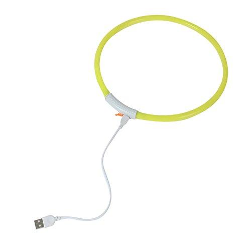 2-TECH LED Visio Leuchthalsband in GELB Deluxe für Hunde und Katzen universell kürzbar, Halsumfang bis 55 cm - 3