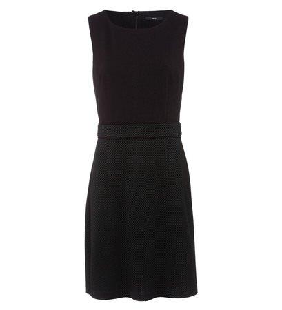 zero Damen Kleid mit Minimal-Muster 413799 black 44