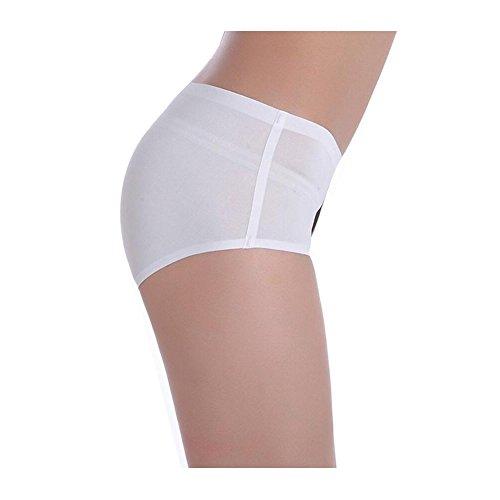 Kecko Damen Sexy Slips Pussycat 3D Print Panty Hipster Hochwertige Unterwäsche Nachtwäsche Safety Shorts Niedrige Taille Anti-Exposition Katze Invisible Underwear für Frauen Weiß