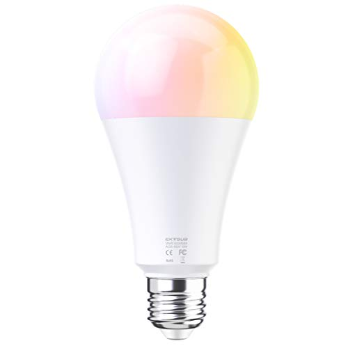 EXTSUD Smart LED WiFi Lampen Dimmbar Mehrfarbig RGB LED Birne Arbeit mit Smartphone,Tablet, Amazon Echo Plus Alexa,Google Home (10W E27) -