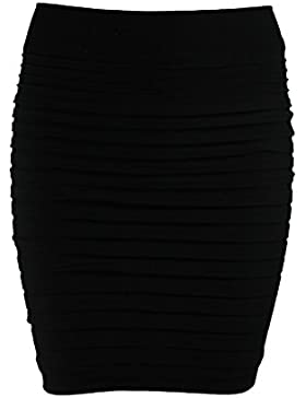Ro Rox alta cintura elástico Bodycon Mini falda UK 6–12