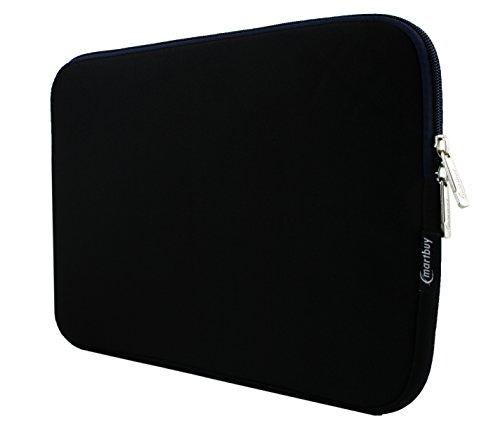 Emartbuy® Schwarz/Midnight Blau Wasserresistent Neopren Soft Zip Case Cover Hülle 13-14 Zoll Zoll Geeignet Für Ausgewählte Geräte Aufgeführt Unten