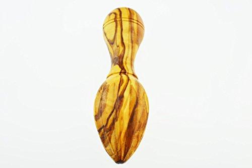 Olive Holz Zitronenpresse, ovale Form, Maserung/natur - 3