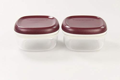 Tupperware Clear Collection 240 ml Crystal Bordeaux- transparent Vorratsdose (2)