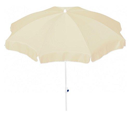 Dehner Gute Wahl Sonnenschirm Saturn, Ø 200 cm, Höhe 180 cm, Polyester, beige
