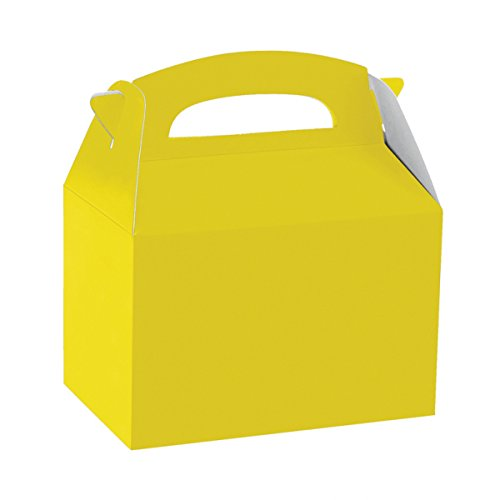 Amscan International-997408partido caja de alimentos, color amarillo