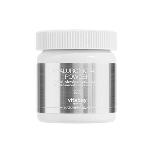 Hyaluronic Acid 20 g - mit 7% reinem Hyaluron - Hyaluronsäure Pulver