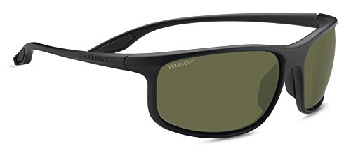 Serengeti Eyewear Erwachsene Ponza Sonnenbrille, Satin Black, Large