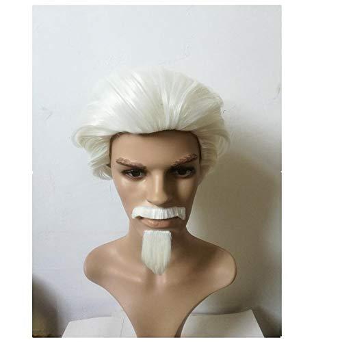 TGCYMYY Blockbuster europäischen und amerikanischen Perücken Santa Claus kurzes lockiges Haar und Bart