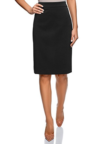 oodji Collection Donna Gonna Basic Tubino Nero IT 44 / EU 40 / M