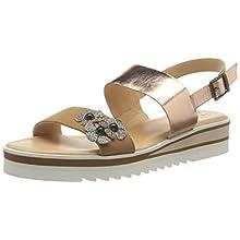 ARA Women's Durban Platform Sandals, Braun Camel Rose Gold Multi 07, 7 UK