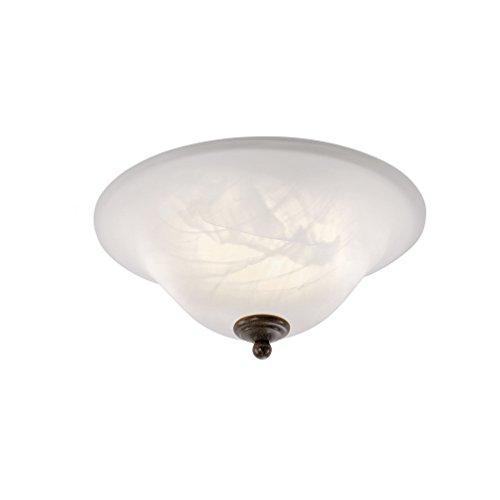 Deckenleuchte Alabaster-Dekor Glas, Landhaus Romantik antik rustikal Edel-Rost, E14 LED-fähig Filament Wohnzimmer Deckenlampe (Deckenleuchte) Vintage Küche Dekor
