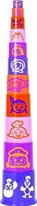 Gowi 453-04 - Cubos apilables (11 Piezas), Color Rosa, Morado y Naranja
