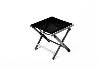 Nexos Hocker, Sitzhocker, Schemel für Garten, Terrasse, Balkon Camping, aus Aluminium, passend zum Gartenstuhl, Klappstuhl, leicht, stabil, NICHT klappbar, schwarz