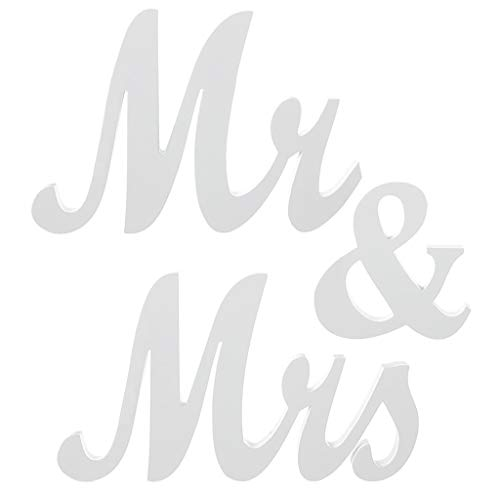 Herr und Frau Zeichen Hochzeit Schatz Tischdekoration, Herr und Frau Briefe dekorative Buchstaben für Hochzeit Foto Requisiten Party Banner Dekoration, Hochzeitsgeschenk Dusche Urlaub Feier Geschenk (Urlaub Banner)