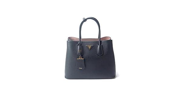 3a9149758c03 Prada Black Saffiano Cuir Leather & Rose Dual-Tone Large Double Bag  Shoulder Bag: Amazon.co.uk: Shoes & Bags