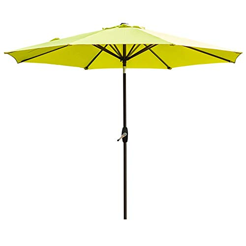 Sonnenschirme Gartenschirm 9ft / 270cm Patio Outdoor Table Umbrella, Yard Umbrella Mit Druckknopfneigung Und Kurbel, Fruit Green (Sonnenschirm 9 Ft)