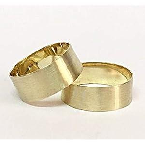 FloweRainboW Breite Trauringe 585 Matt Ringe Gold – Hochzeitsringe/Eheringe/Verlobungsringe – Damen/Männer