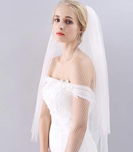 Star Brautschleier, Spitzen-Hochzeitskleid Für Die Braut, Handgemachter Dreischichtiger...