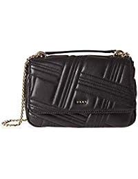 6e17ea519 DKNY Donna Karan New York - Bolso al hombro para mujer Negro Negro 22.5 x 13