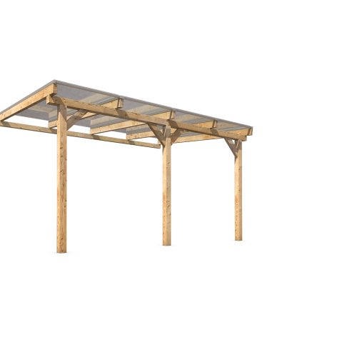Terrassenüberdachung Terrassendach Vordach Holz 400x300cm