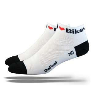 DeFeet Speede I Love bike Socken, Herren (Speede Defeet Socke Bike)