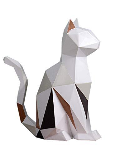 Amoy-Art Figurillas Decorativas Diseño Gato Escultura