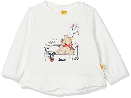 Steiff Baby-Mädchen 1/1 Arm T-Shirt, Weiß (Cloud Dancer White 1610), 62 - Dancer Kinder-t-shirt