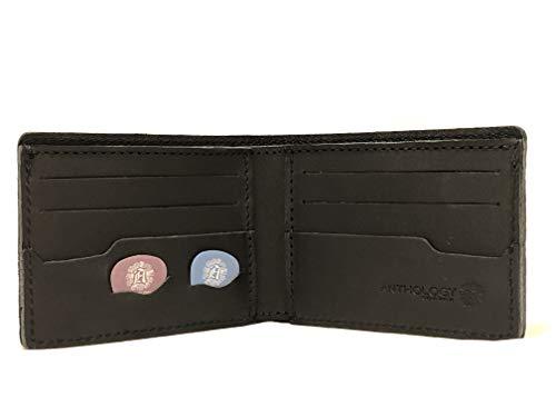 Anthology Gear Minimalistische Geldbörse aus Leder, mit Plektrumhalter, genarbtes Leder carbon schwarz -
