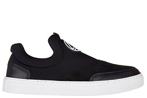 MCQ Alexander McQueen slip on uomo nuove sneakers originali youko mid cut nappa nero EU 40 421739 R1108 1000