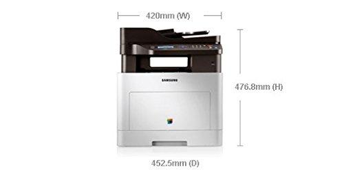 Samsung CLX-6260ND/SEE Farblaser-Multifunktionsgerät (Drucken, Scannen, Kopieren, 9.600 x 600 dpi, 512 MB Speicher, 533 MHz Prozessor)