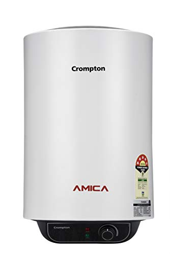 Crompton Amica ASWH-2025 25-Litre Storage Water Heater (Black and White)