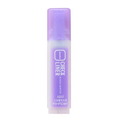 Textmarker, bunt, matt, fluoreszierender Stift 11.4 * 2.7 * 1(cm) violett