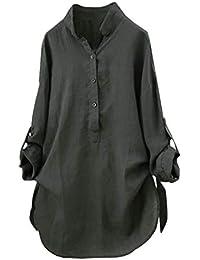 Lenfesh Camisetas Mujer Otoño Invierno de Hombro Blusa Mujer Tallas Grandes Camisas Manga Larga Elegante de