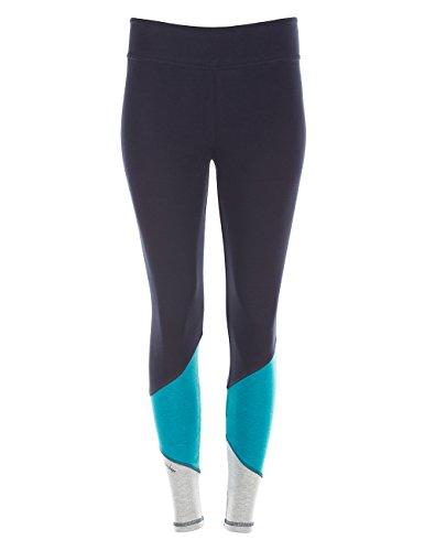 r Your Colour Long Tights Leggings, Night Blue/Petrol/Grey Melange, M (Regenbogen-farbige Leggings)