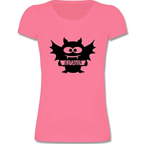 Anlässe Kinder - Fledermaus - 110-116 (5-6 Jahre) - Rosa - F288K - Mädchen T-Shirt
