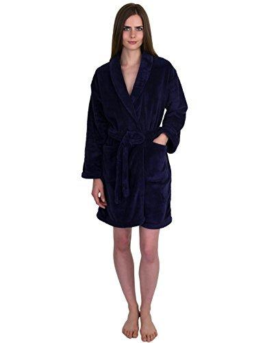 mantel für Damen, Plüsch, Fleece, kurz, hergestellt in der Türkei - Blau - Small ()