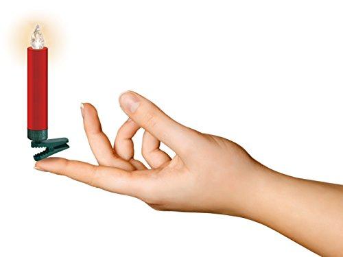 LUMIX Premium Mini, kabellose LED-Mini-Christbaumkerzen, Erweiterungs-Set mit 6 Kerzen, Flackermodus, Rot, Art. 75456 - 4