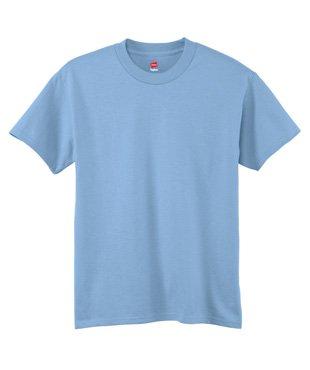 hanes-youth-tagless-t-shirt-light-blue-medium