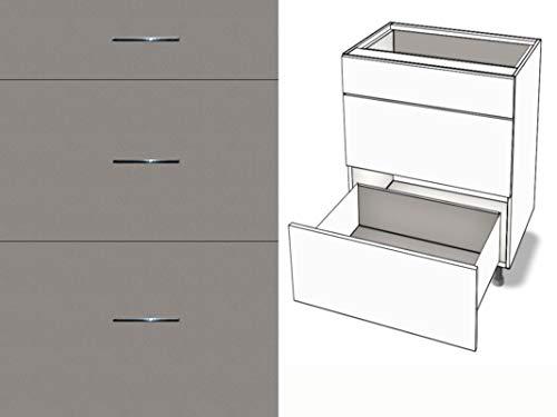Premium-Ambiente AGEEPA0418 Unterschrank 3-Schubladen Soft Closing EURODEKOR® (Breite 30cm, 04 Titan) - 04 3-schubladen-unterschrank