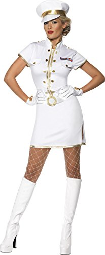 Smiffys, Damen Hochseekapitänin Kostüm, Kleid, Mütze und Handschuhe, Größe: M, 35260