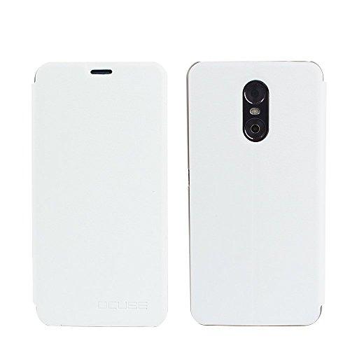 Tasche für Ulefone Gemini Hülle, Ycloud PU Ledertasche Metal Smartphone Flip Cover Case Handyhülle mit Stand Function Weiß