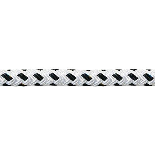 Liros Porto ø10 mm - 5 / 10 / 15 / 20 / 25 / 30 / 40 / 50 m | Bruchlast ca. 2300 kg | Festmacherleine | Ankerleine | Festmacher | in der Farbe Weiß mit schwarzem Kennfaden | Tau | Seil (5 m) -